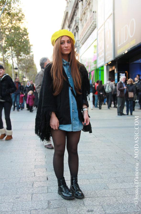 Style bobo chic sur l'Avenue des Champs Elysées, Paris ...