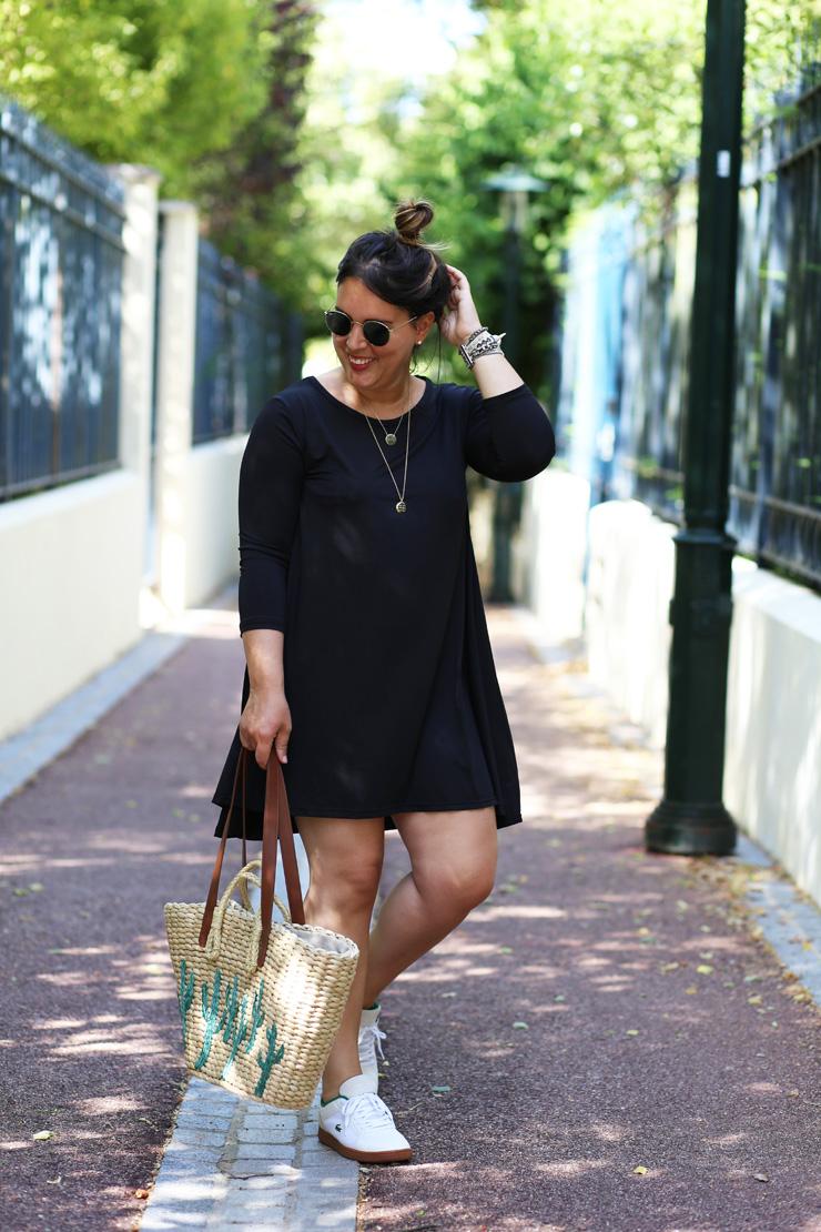 robe noire baskets blanches le bon mix modasic. Black Bedroom Furniture Sets. Home Design Ideas