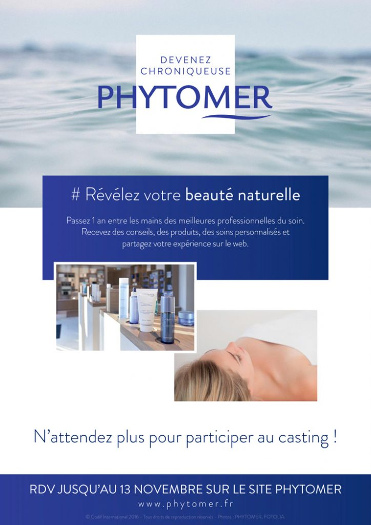 Chroniqueuse Phytomer et si c'était vous ? - Modasic